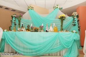 украшение свадеб тканями и шарами