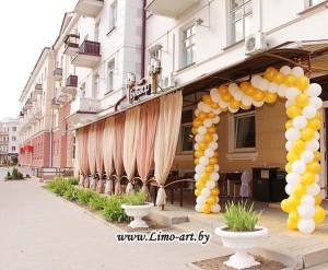 украшение свадеб шарами и  тканями